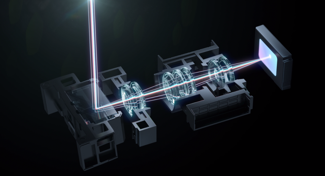 Rendering of continuous lossless optical zoom