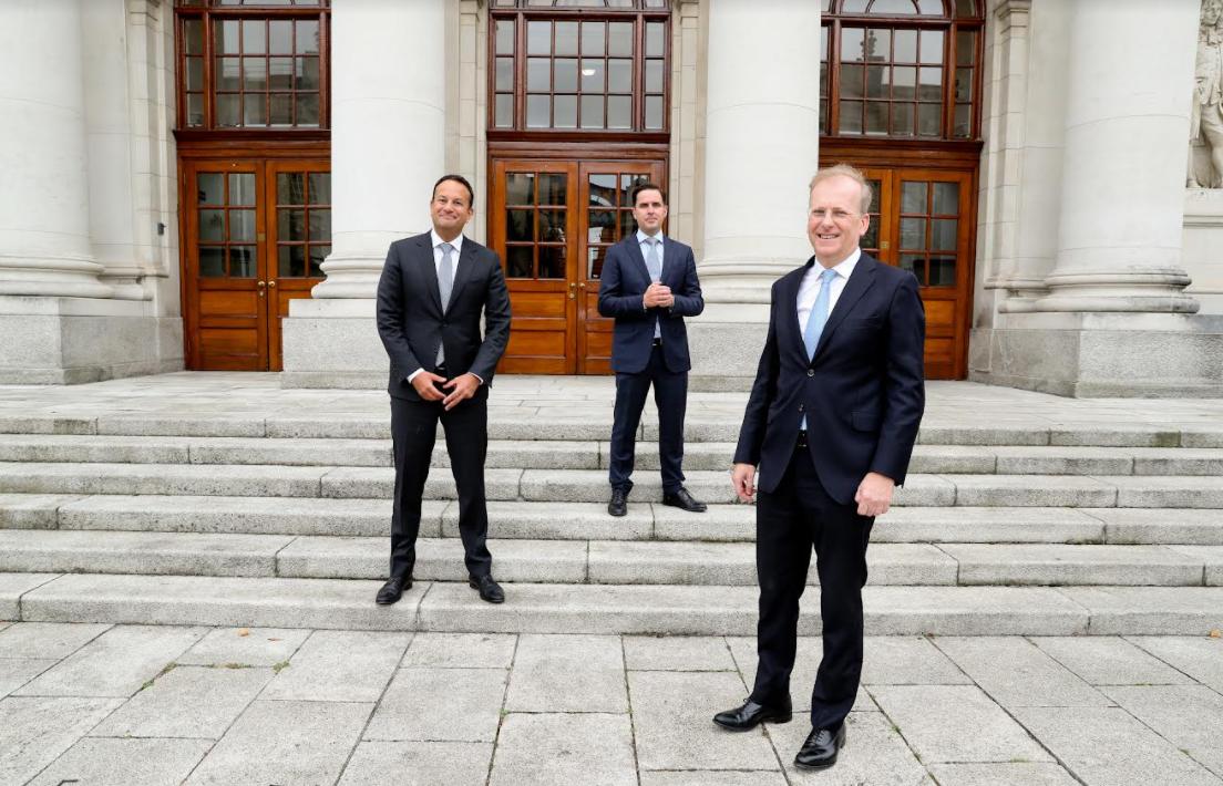 Leo Varadkar, Tánaiste and Minister for Enterprise; Martin Shanahan, CEO of IDA Ireland; and Tadhg Young, Country Head of State Street Ireland